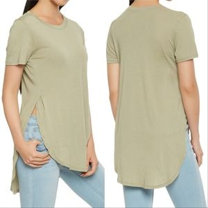 Top BACK TO BASICS SAGE T-SHIRT